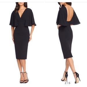 Louisa Butterfly Sleeve Cocktail Dress